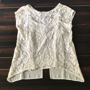 Lace Top with Attached Camisole